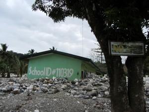 Grundschule,dem Flußlauf abgewandte Seite